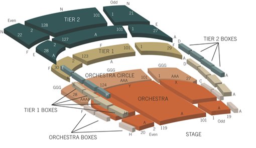 Holland Center Seating Chart
