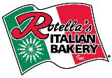rotellas italian bakery text with Italian flag background