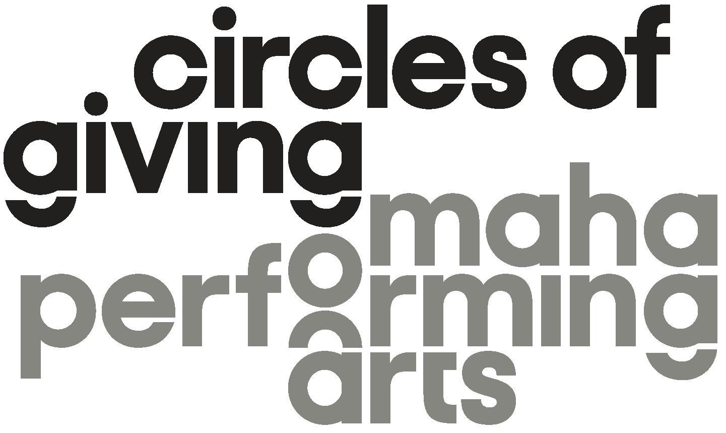 Omaha Performing Arts Logotype Circles of Giving 010119