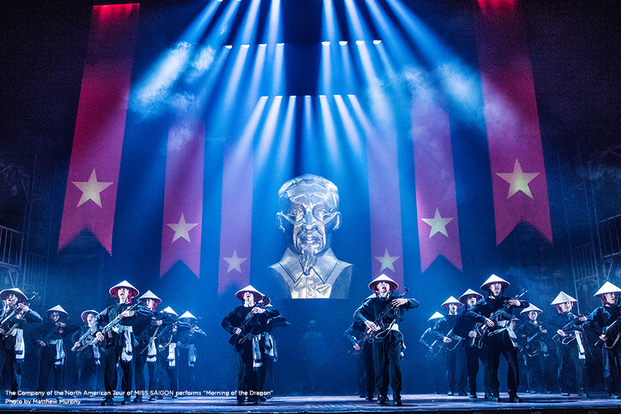 miss saigon production shot of army on stage