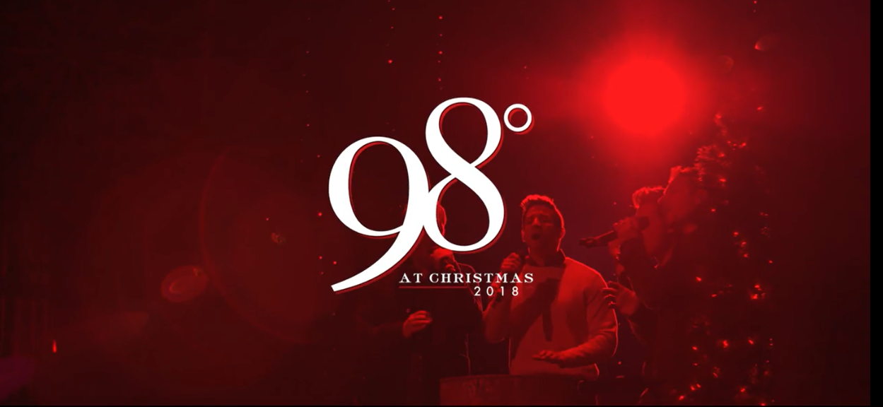 screen grab over 98 degrees holiday video with with show title text overlay