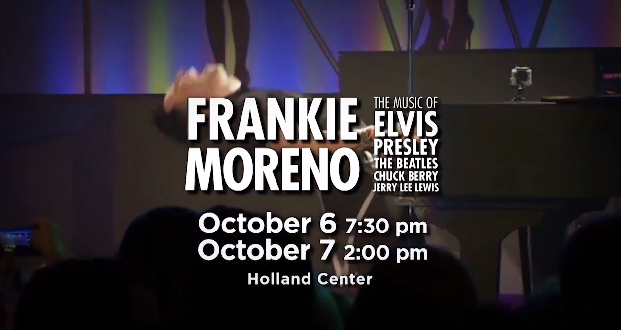 frankie moreno playing piano on stage with text overlay