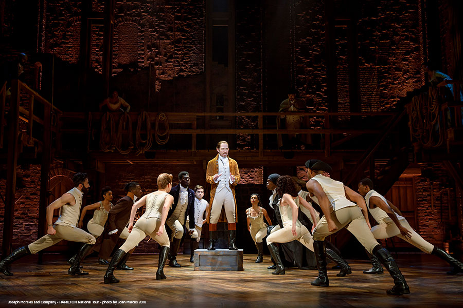hamilton cast on stage