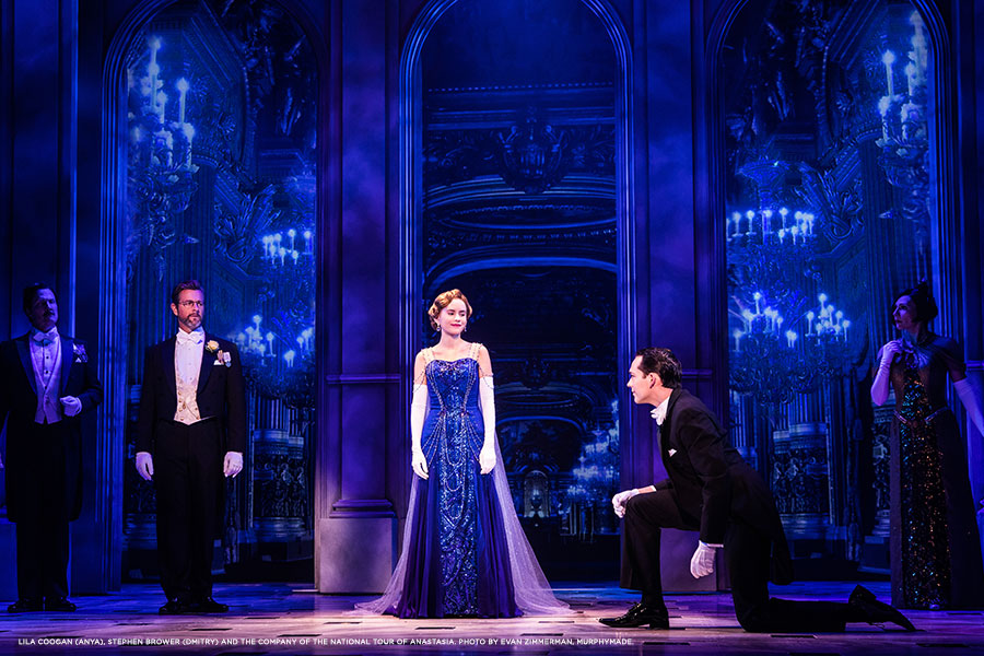 Lila-Coogan-(Anya),-Stephen-Brower-(Dmitry)-and-the-company-of-the-National-Tour-of-ANASTASIA.-Photo-by-Evan-Zimmerman,-MurphyMade.