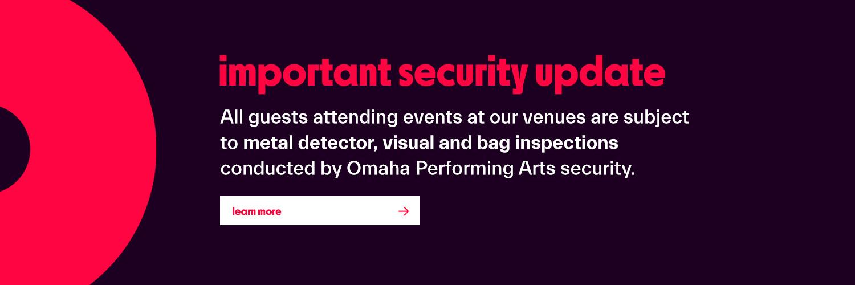 security update- must pass through metal detectors